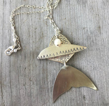 Fish Necklace Made from Upcycled Silverware Spoons