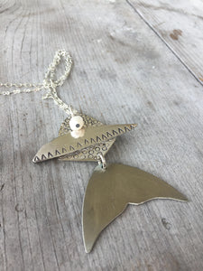 Upcycle Spoon Necklace in the Shape of a Fish