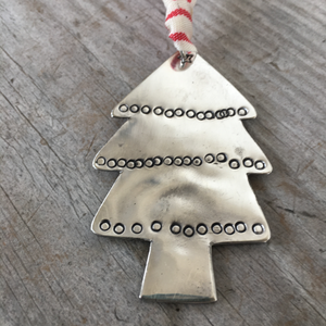 Upcycled Silverware Spoon Ornament Christmas Tree Shaped