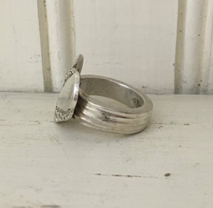 Upcycled silverware spoon ring heart shape