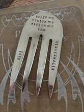 Hand Stamped Upcyled Fork Bookmark with Shel Silverstein Poem Quote
