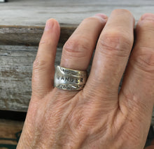 Wander Spoon Ring Shown on Model's Finger