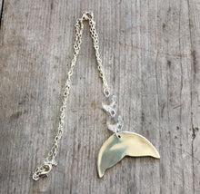 Spoon Whale Tail Necklace w/ Chandelier Crystals -# 4284