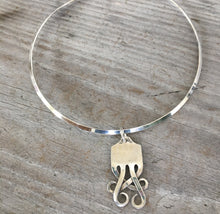 Sterling Fork TEMPEST Pendant Cuff Necklace