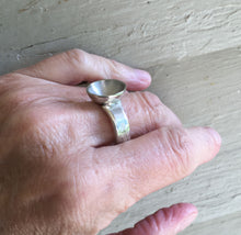 Spoon Ring with Bowl Top shown on Model Hand