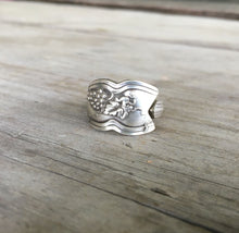 Spoon Ring with Grapes Detail
