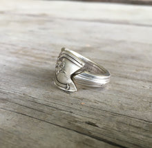 Spoon Ring with Grapes Detail and close up of dovetailed ends