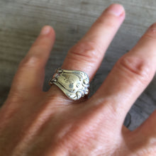 Sterling Reed & Barton Spoon Ring Shown on Hand