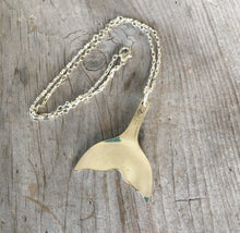 Upcycled Spoon Necklace Fashioned into a Tail of a Whale or a Mermaid