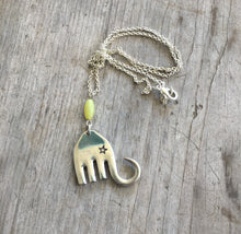 Handmade Fork Elephant Necklace