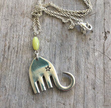 Fork Elephant Jewelry with Hand Stamped Star Eye