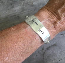 Stamped Knife Bracelet - SPREAD LOVE - #4408