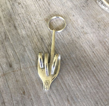 Fork Keychain - Fuck Off Fuck It Bird Flip - #4411