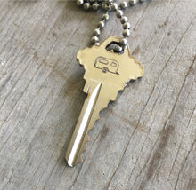 Old Key Stamped with airstream camper stamp