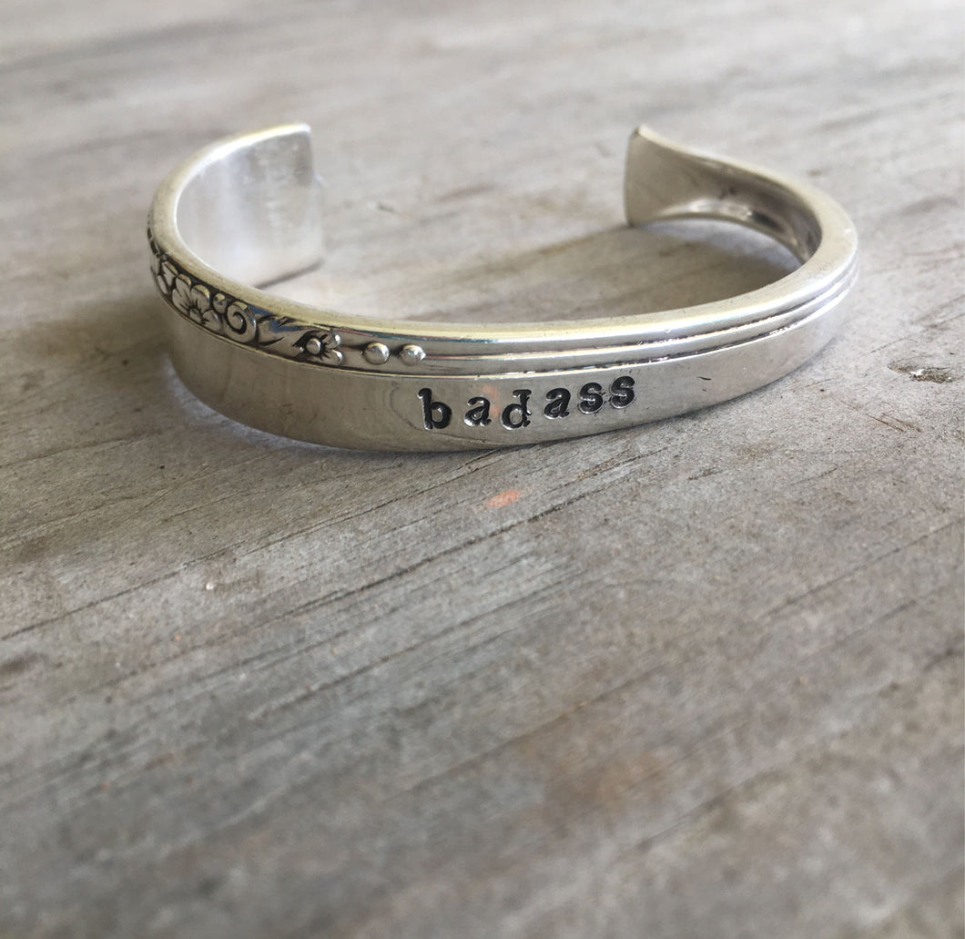 Nobility Plate Caprice Hand Stamped Spoon Bracelet Badass