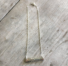 Upcycled silverware bar Necklace Hand Stamped Vote