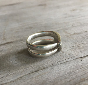 Upcycled silverware fork tine ring size 7.5