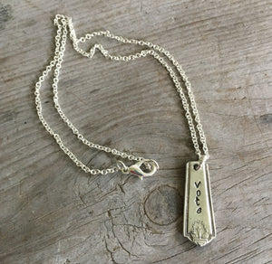 Bar Necklace - VOTE - #4469