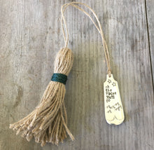 Oh the Places You'll Go by Dr. Seuss Hand Stamped Upcycled Silverware bookmark with tassel