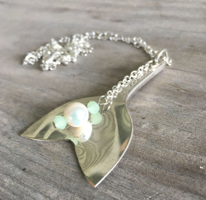 Spoon Mermaid Tail Whale Tail Necklace - #4495