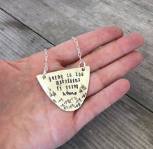 Stamped Half Spoon Choker - GOING TO THE MOUNTAINS IS GOING HOME - #4504