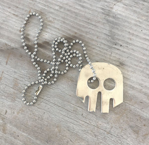 Upcycled Fork Skull Shaped Necklace