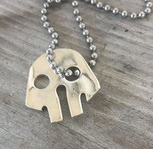 Skull Necklace made from a fork