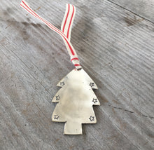 Hand Stamped Spoon Ornament Made from Upcycled Silverware
