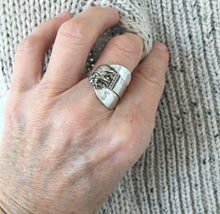 Sterling Spoon Cuff Ring Elephant - #4579