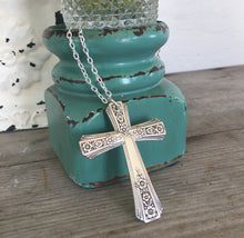 Upcycled Spoon Cross Necklace from Community Silverplate Fortune Pattern from 1939
