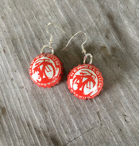 Bottle Cap Earrings - New Belgium Brewing - #3990