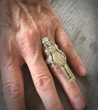 Dionne Quintuplets Figural Spoon Ring Cecile Size 8 Shown On Model