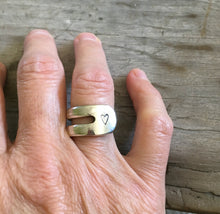 Size 8 Ring Made from Fork shown on model