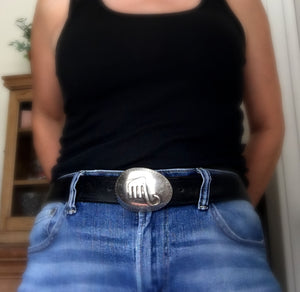 Upcycled Spoon Belt Buckle with Applied Upcycled Fork Elephant