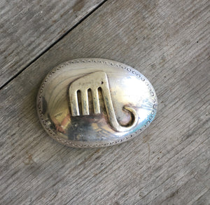 Belt Buckle Made from Upcycled Spoon and Upcycled Fork