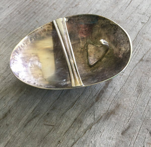 Back side of upcycled spoon belt buckle