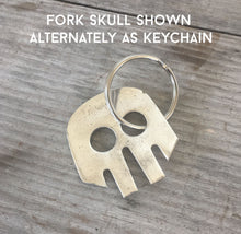 Fork Necklace/Keychain - Skull - #3463