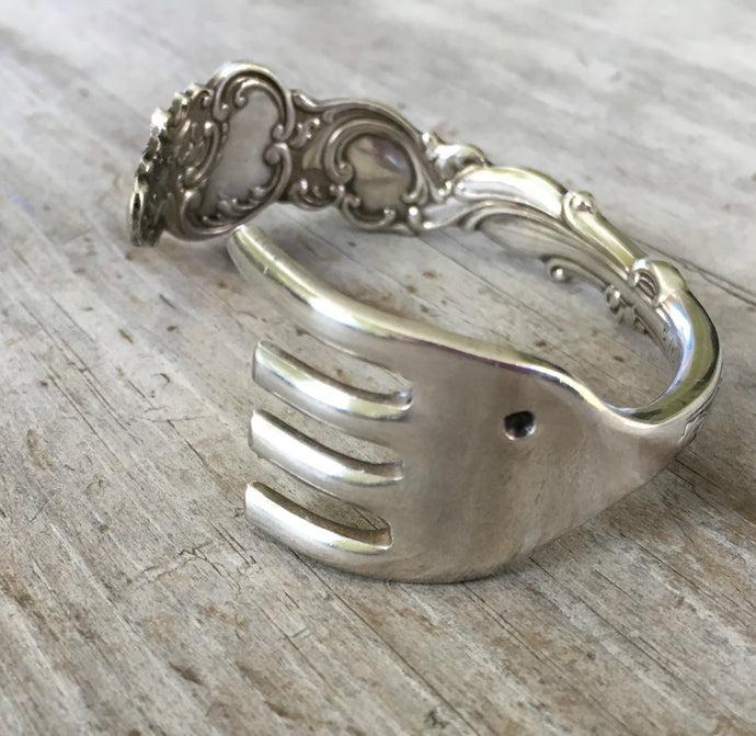 Fork Cuff Bracelet Elephant on One End on Exquisite detailed rogers columbia fork
