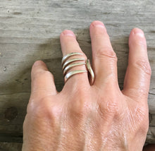 Size 7 fork ring shown on model hand