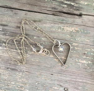 Fork Tine Heart Necklace - #4285