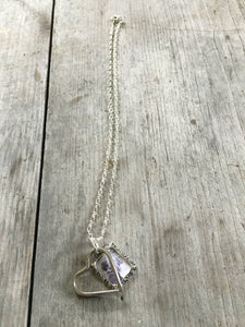 Fork Tine Heart Necklace - #4085