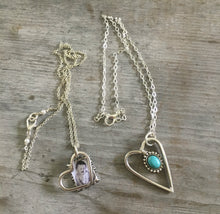 Fork Tine Heart Necklaces - Upcycled Silverware Jewelry