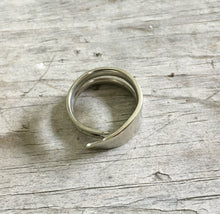 Silveware Ring from Recycled Fork Double Tine Ring Size 10