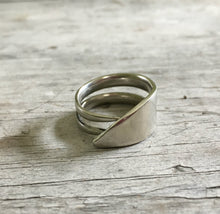 Size 10 Ring made from upcycled vintage silverware fork