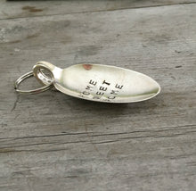 Stamped Spoon Keychain Home Sweet Home Side View
