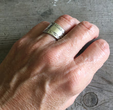 Camellia Spoon Ring On Model's Hand