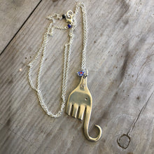 Handmade Elephant Necklace made from vintage fork
