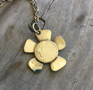 Spoon Bowl Flower Necklace