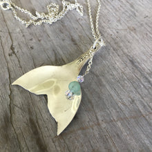 Spoon Mermaid Tail Whale Tale Necklace - #4413