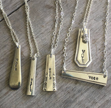 Bar Necklace - VOTE